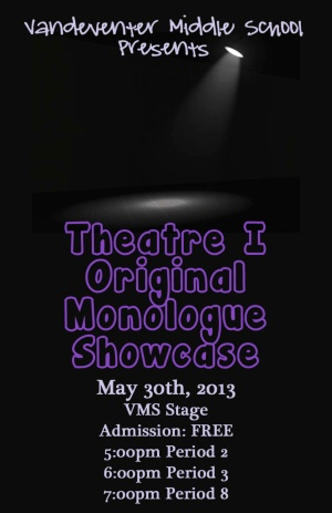 Monologue Showcase Theatre I